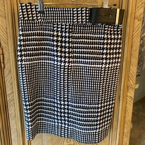 Michael Kors Houndstooth Blk/White/blu mini Skirt